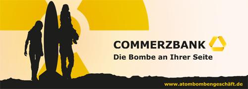 Banner Atomwaffen ein Bombengeschäft