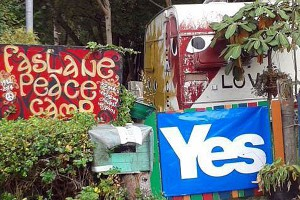 Faslane Peace Camp am 18. Sept 2014