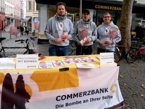 Weltspartag Bonn. Foto: Netzwerk Friedenskooperative