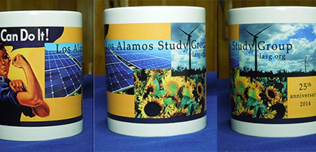 Jubiläumsbecher der Los Alamos Study Group für 25 Jahre Arbeit. Bild: LASG
